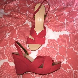 Diane Von Furstenberg heels wedge sandals 7.5